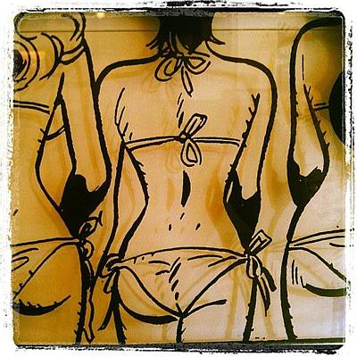 Comics Wall Art - Photograph - Girls Abd Bikinis?! by Roger Del Sol