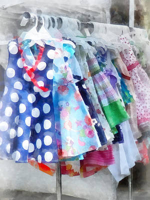 Photograph - Girl's Dresses At Street Fair by Susan Savad