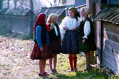 Photograph - Girls In Maramures by Emanuel Tanjala