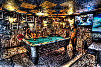 Photograph - Girls Playing Pool In Bar by Dan Friend