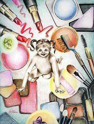 Make-up Girl Painting - Girls Toys by Hiroko Sakai
