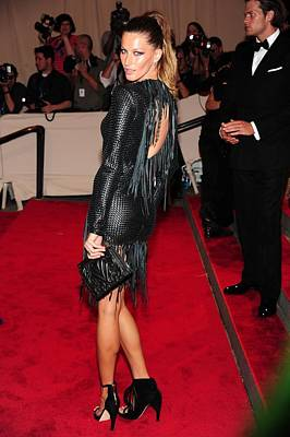 Gisele Bundchen In Alexander Wang Art Print by Everett