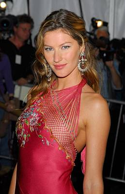 Chandelier Earrings Photograph - Gisele Bundchen Wearing Dior Haute by Everett