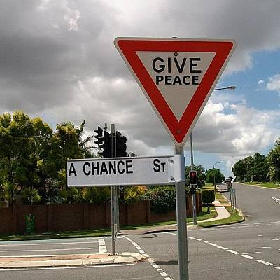 Gmy Photograph - Give Peace A Chance by Cameron Bentley