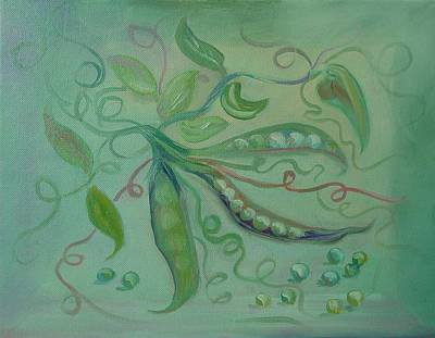 Art Print featuring the painting Give Peas A Chance by Carol Berning