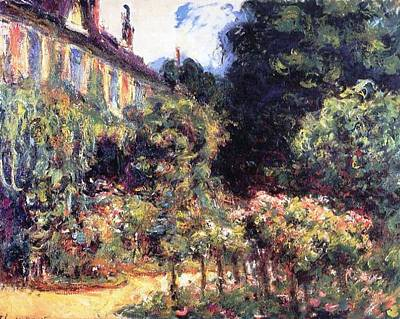 Cottage Country Painting - Giverny by Claude Monet