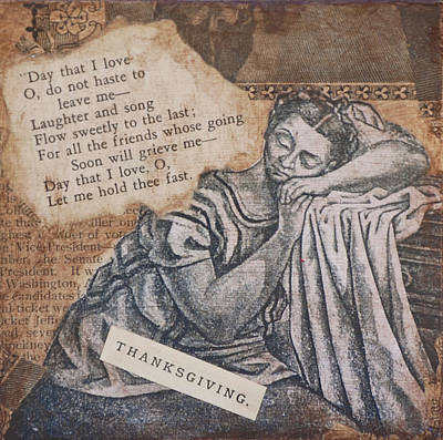 Asleep Mixed Media - Giving Thanks by Kent Mullens