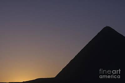 Giza Pyramid At Dusk Print by Adam Crowley