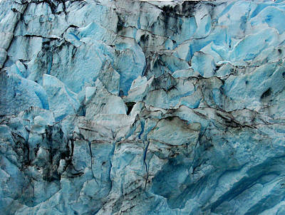 Photograph - Glacial Abstract by Judy Wanamaker