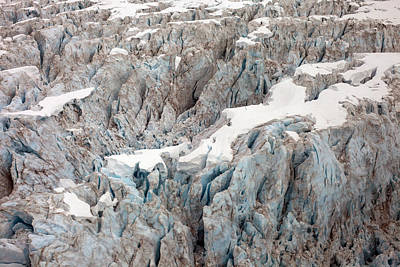 Glacial Crevasses Art Print by Mike Reid