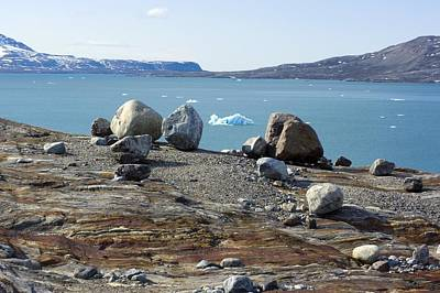 Glacial Erratics And Fjord Art Print by Dr Juerg Alean