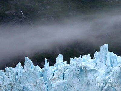 Photograph - Glacier And Far Distant Waterfalls by Phyllis Kaltenbach