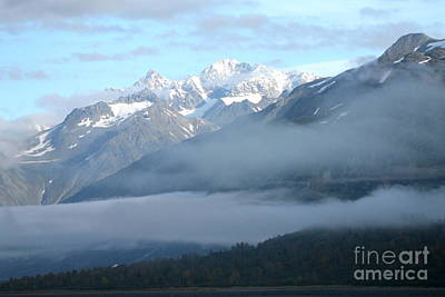 Photograph - Glacier Bay Mountain Ranges by Pamela Walrath