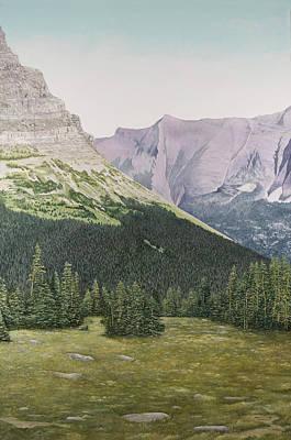 Glacier National Park Montana Art Print by Mary Ann King