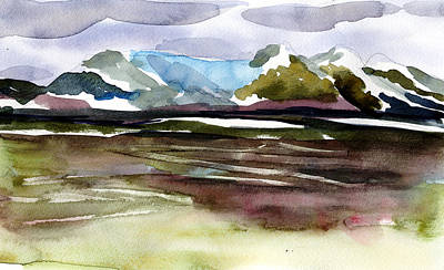 Glacier Near Juneau Art Print by Mindy Newman