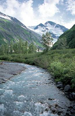 Photograph - Glacier River Alaska by Lynnette Johns