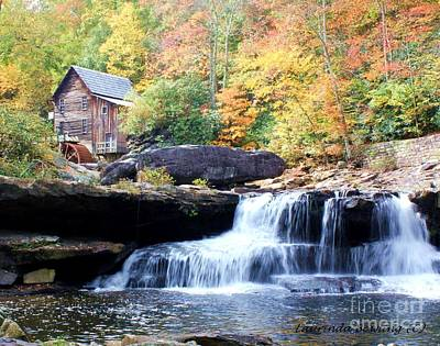 Glade Creek Grist Mill Art Print by Laurinda Bowling