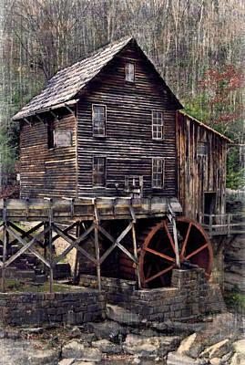 Glade Creek Grist Mill Series II Art Print by Kathy Jennings