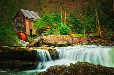 Glade Creek Mill 2 Art Print by Mary Timman