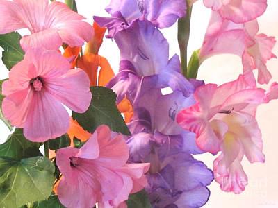 Gladiola Bouquet Art Print by Kathie McCurdy