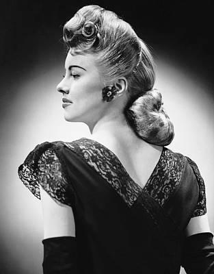 Glamorous Woman Posing Art Print by George Marks