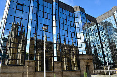 Digital Art - Glasgow Metropolitan Cathedral Reflection by Eva Kaufman