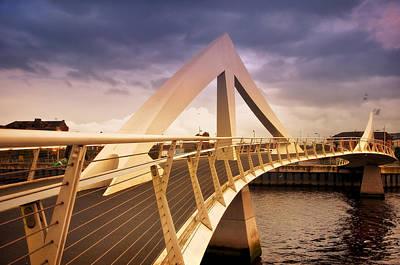 Photograph - Glasgow Squiggly Bridge. Scotland by Jenny Rainbow