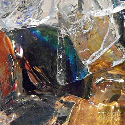 Dichroic Photograph - Glass And Ice by Sarah Loft