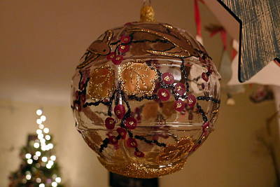 Art Print featuring the photograph Glass Bauble by Richard Reeve