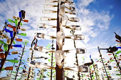 Row Of Bottles Photograph - Glass Bottle Sculpture by Eddy Joaquim