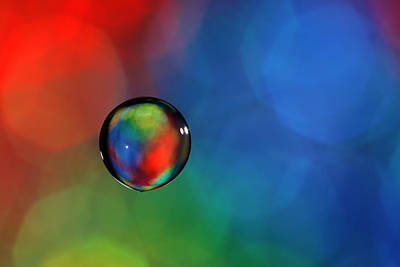 Glass Bubble In Red Green Blue Art Print by Al Hurley