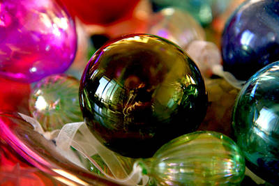 Photograph - Glass Bulbs by Van Corey