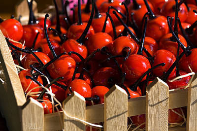 Photograph - Glass Cherries by Raffaella Lunelli