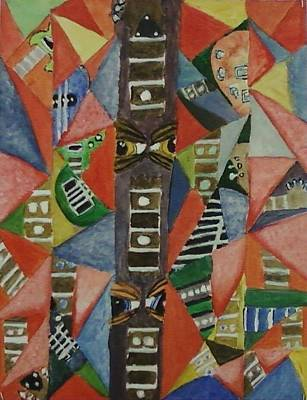 Glass Full Of Guitar Parts Art Print by Cecelia Taylor-Hunt