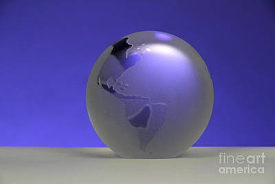 Paper Weight Photograph - Glass Globe by Photo Researchers, Inc.