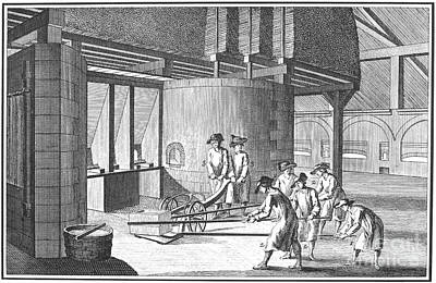 Glass Manufacture, 1751 Art Print by Granger