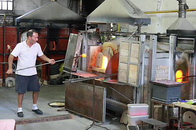 Artist Working Photograph - Glass Manufacture In Murano by Paul Cowan