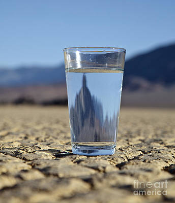 Photograph - Glass Of Water In Desert by David Buffington