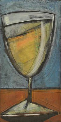Stylized Beverage Painting - Glass Of White by Tim Nyberg