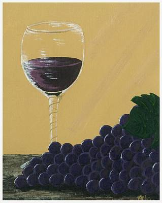 Glass Of Wine Painting - Glass Of Wine by Starla Rodriguez