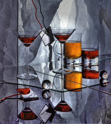 Glass Reflection Art Print by Ron Schwager