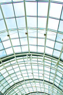 Shiny Floors Photograph - Glass Roof by Tom Gowanlock