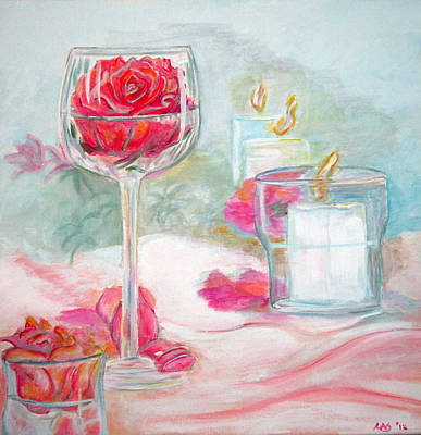 Painting - Glass Rose by Lisa Stanley
