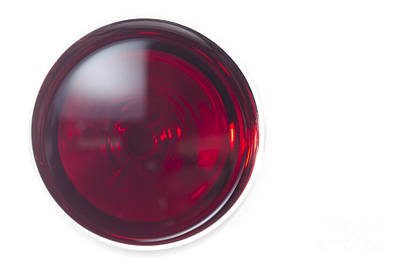 Glass With Red Wine Print by Mats Silvan