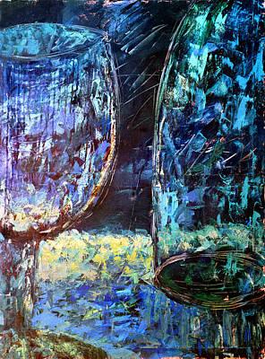 Painting - Glasses #17 by Alfredo Gonzalez