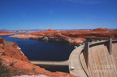 Glen Canyon Dam At Lake Powell By Page Arizona Art Print