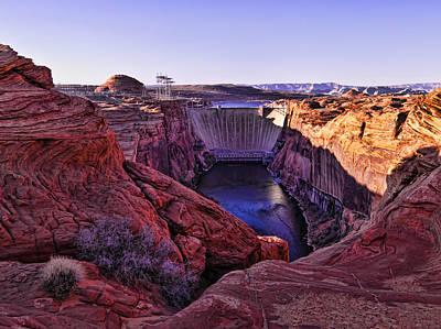 Glen Canyon Dam Art Print by Jon Berghoff