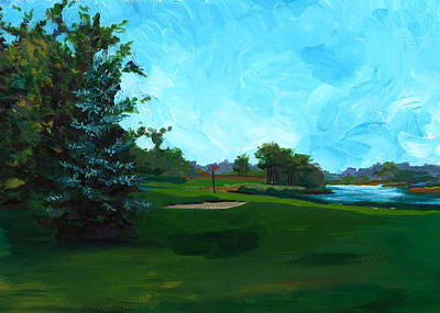 Painting - Glen Eagle Golf Course by Mary C Haneline