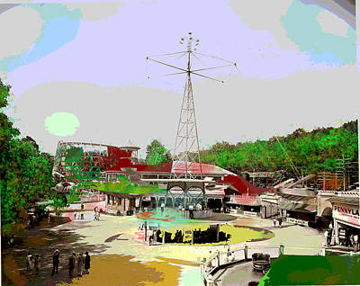 Art Print featuring the mixed media Glen Echo Park by Charles Shoup