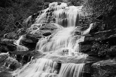 Photograph - Glen Falls Nc In Black And White by Sheila Kay McIntyre